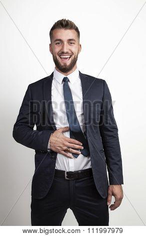 Good-tempered businessman
