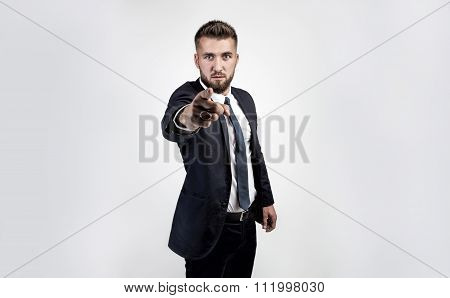 attractive businessman in a suit