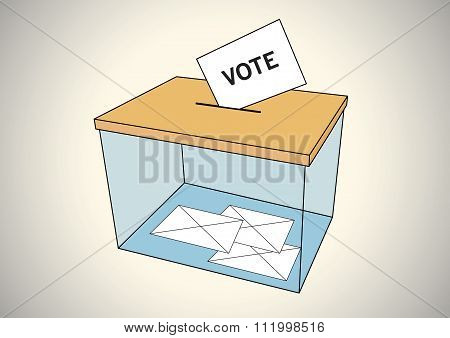 Ballot Box With Some Votes