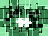 Retro Style Puzzle In Green