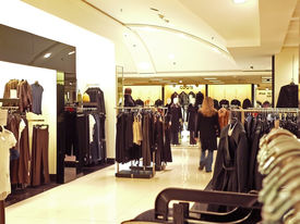 picture of department store  - a department store interior at christmas time - JPG