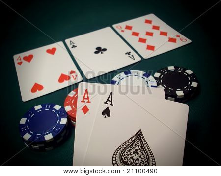 The Flop Texas Hold 'em Cards And Chips