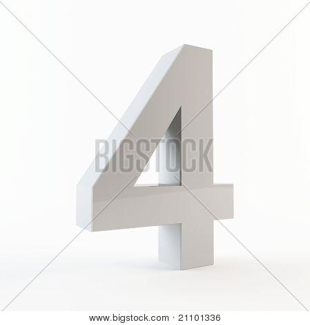 3D number 4