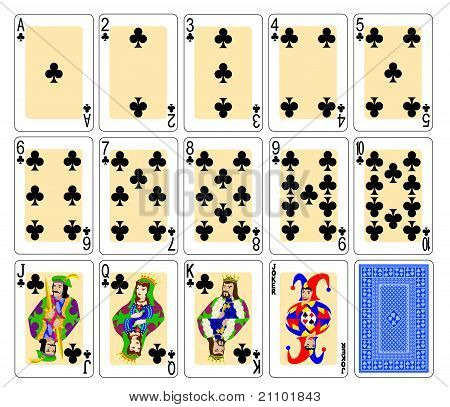 Playing cards clubs
