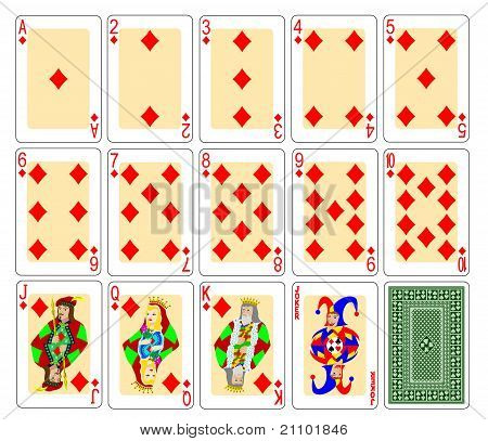 Playing cards diamonds