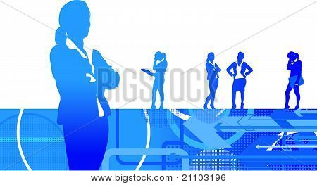 business women background