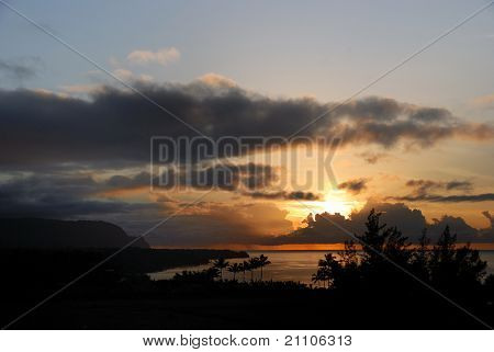 Na Pali Coast Sonnenuntergang