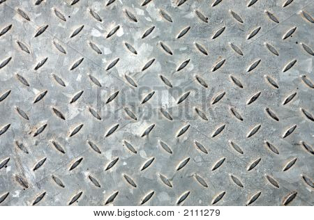 Old Metal Floor Covering Close Up Pattern Background.