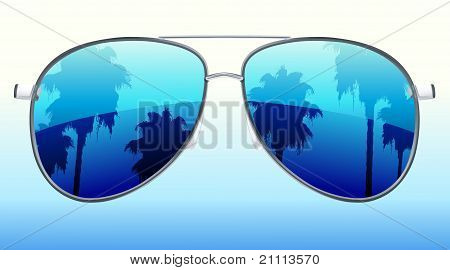 Sunglasses With The Reflection