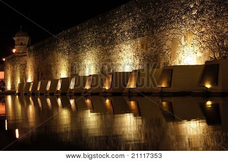War Monument At Night