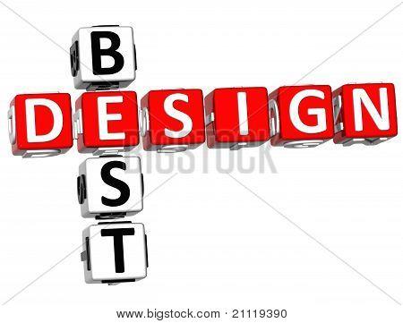 3D Best Design Crossword