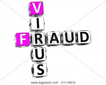 3D Virus Fraud Crossword