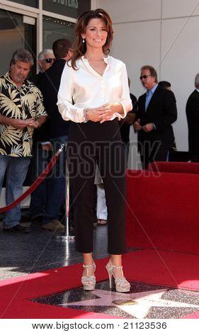 LOS ANGELES - JUN 02:  Shania Twain Walk of Fame Honors Shania Twain  on June 02,2011 in Hollywood, CA