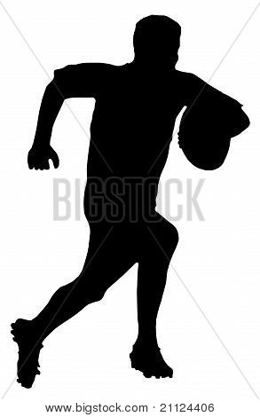 Sport Silhouette - Rugby Football Runner