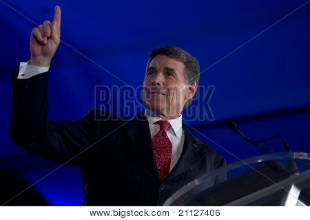 NEW ORLEANS, LA - JUNE 18: Texas Governor Rick Perry addresses the Republican Leadership Conference on June 18, 2011 at the Hilton Riverside New Orleans in New Orleans, LA.