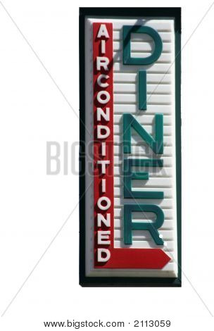Diner Sign,Isolated