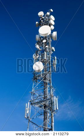 Microwave Communications Antenna Tower