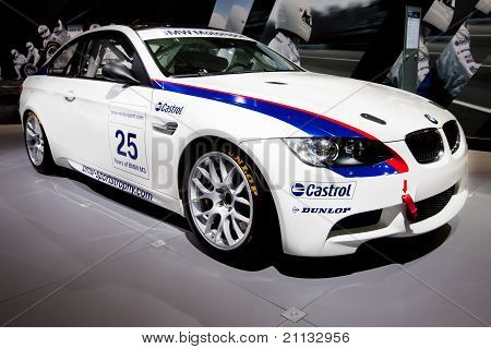 Moscow, Russia - August 25: White Sport Car Bmw At Moscow International Exhibition Interauto On Augu