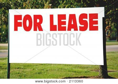 Blank For Lease Sign