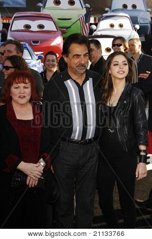 LOS ANGELES - JUNE 18: Edie McClurg; Joe Mantegna; Gia Mantegna at the Premiere of Walt Disney Pictures' 'Cars 2' at the El Capitan Theatre, California on June 18, 2011.