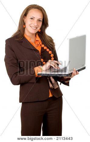 Successful Woman On A Laptop