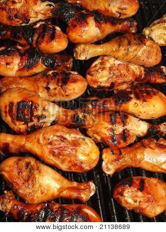 Fresh Grilled Chicken Cooking On The Barbecue