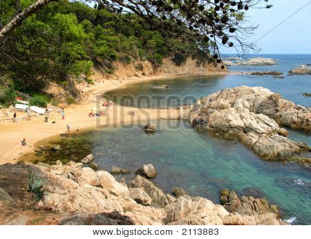 Beach On The Costa Brava