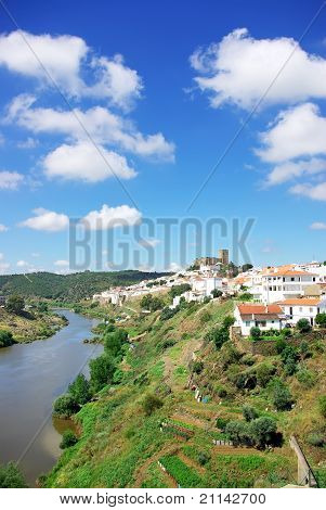Landscape Of Mertola And Guadiana River.