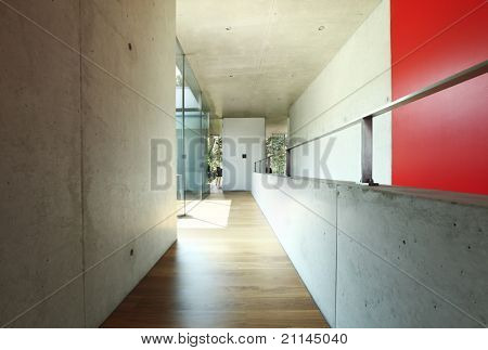 architecture, modern house , corridor interior