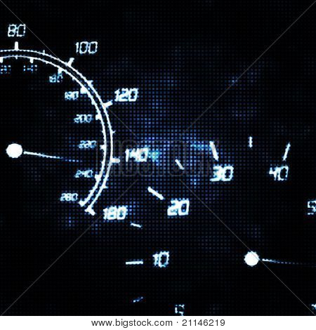 Abstract Speedometer And Tachometer