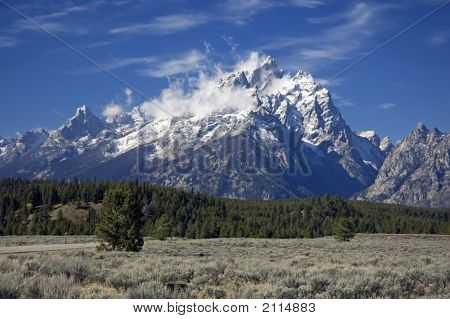 Grand Teton After First Snow