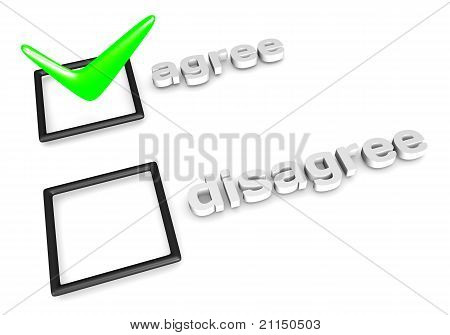 Agree/Disagree decision concept