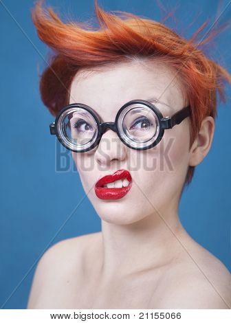 nerdy Mädchen