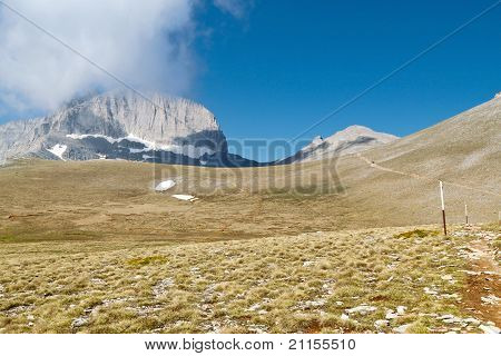 Mt. Olympus in Greece. The 'Muses' plateau