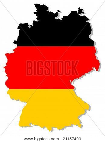 Germany flag inside country border