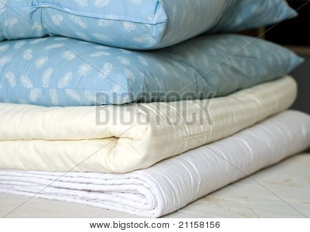 Blankets And Feather Pillows
