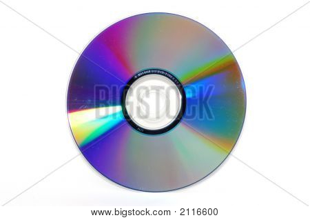 Laser Disk Isolated On A White Background.