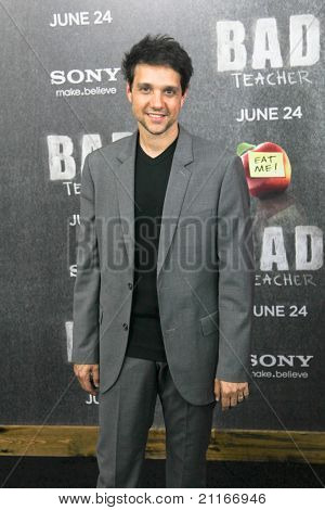 "NEW YORK - JUNE 20: Ralph Macchio attends the premiere of ""Bad Teacher"" at the Ziegfeld Theatre on June 20, 2011 in New York City."
