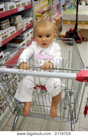 Small Smiling Baby To Go Shopping