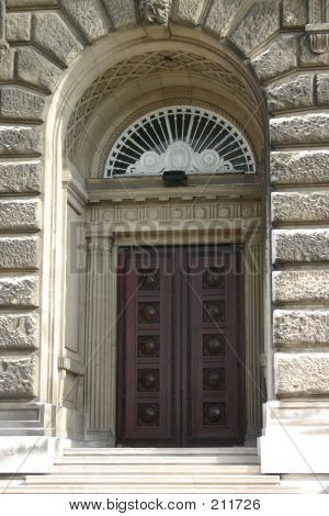 Ornate Wooden Door And Doorway