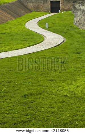 Sinuous Path Made Of Stone