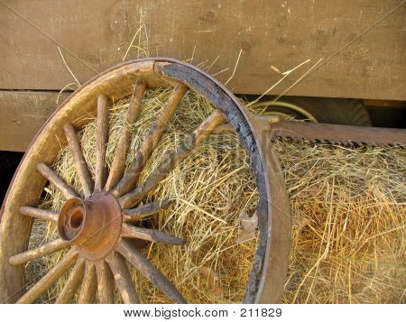 Broken Stagecoach Wheel, Landscape View (offset)