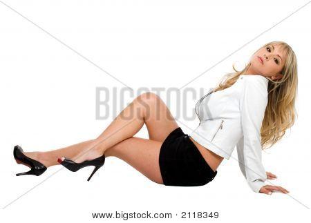 Fashion Model On The Floor