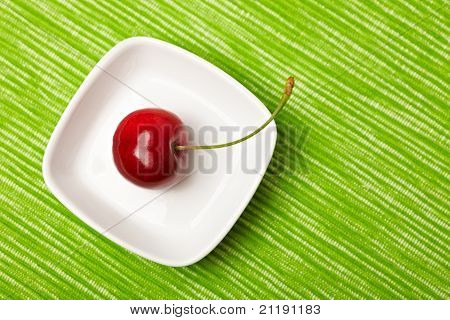 Single Red Cherry