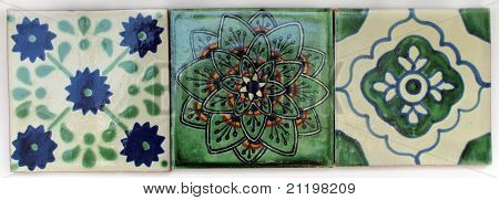 Three Square Mexican tiles