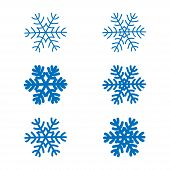 Snowflakes Vector Set poster