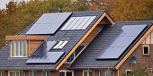 Solar Panels On  House poster