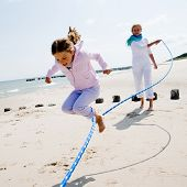 stock photo of skipping rope  - Summer vacation  - JPG