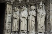 Monument Of Cathedrale Notre-dame De Paris Or Our Lady Of Paris At Paris, France. poster