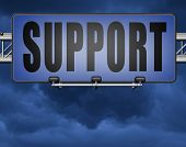 support desk icon or online help desk technical assitance and customer service 3D, illustration poster
